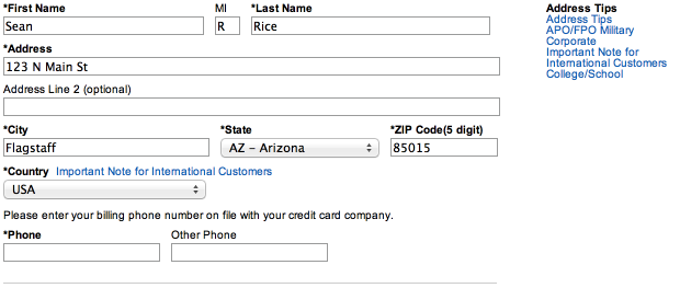 The User Experience Design of Address Forms