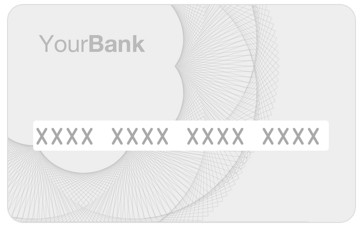 blank credit card form